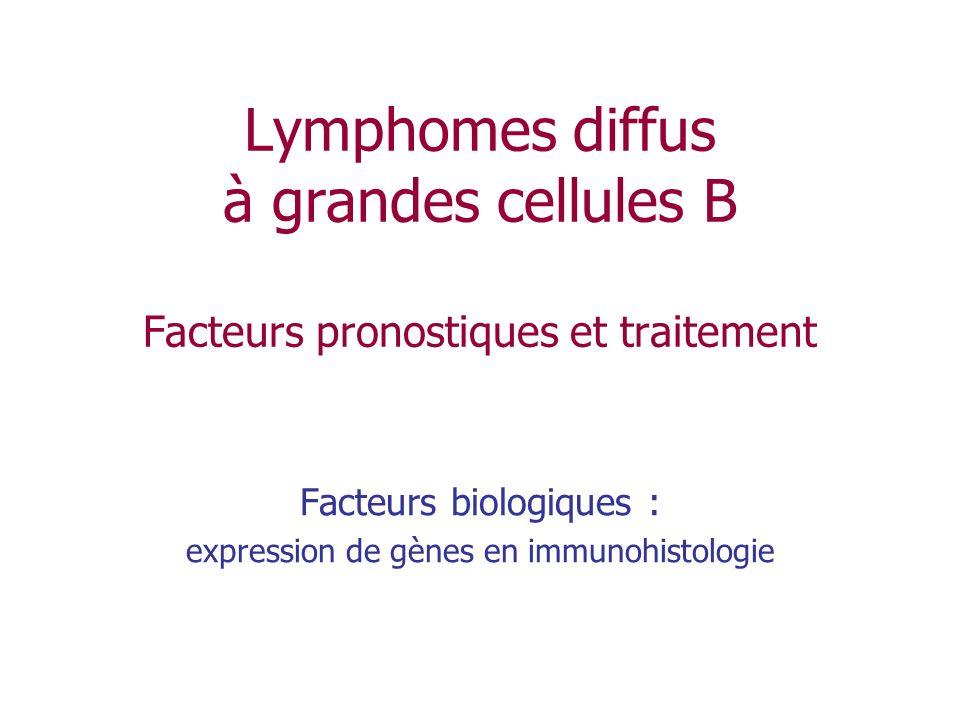 Facteurs biologiques : expression de gènes en immunohistologie