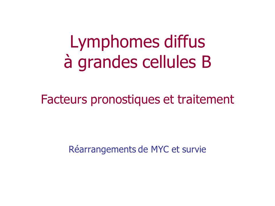 Réarrangements de MYC et survie