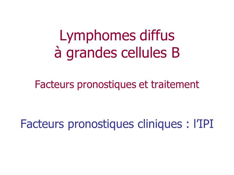 Facteurs pronostiques cliniques : l'IPI
