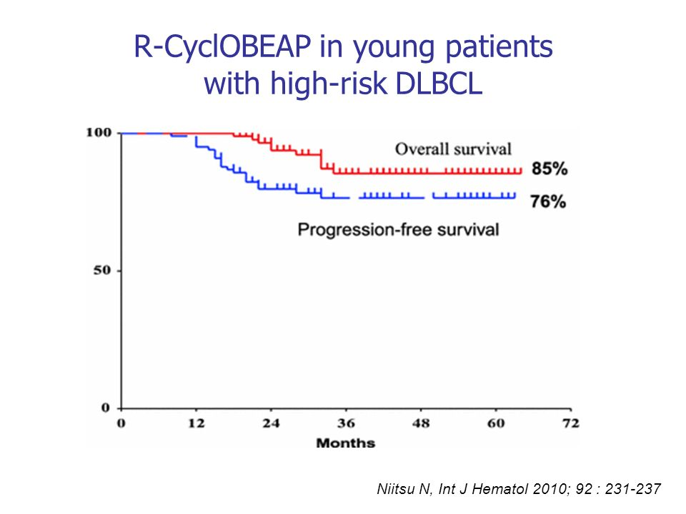R-CyclOBEAP in young patients with high-risk DLBCL
