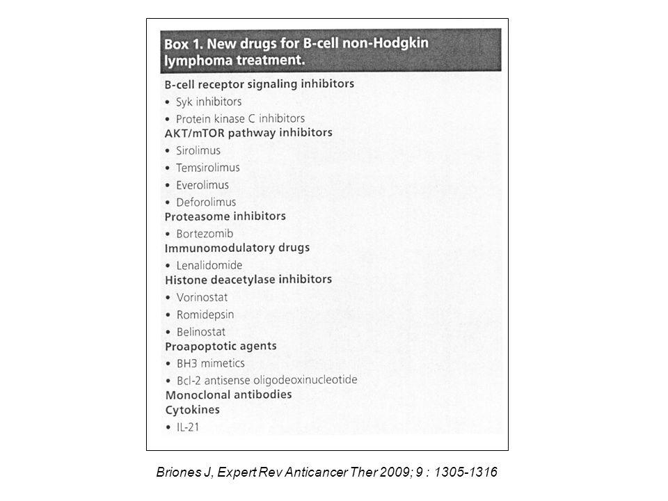 Briones J, Expert Rev Anticancer Ther 2009; 9 : 1305-1316