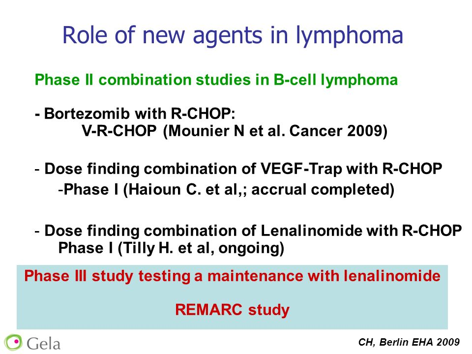 Phase III study testing a maintenance with lenalinomide