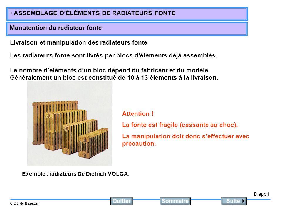 Livraison et manipulation des radiateurs fonte