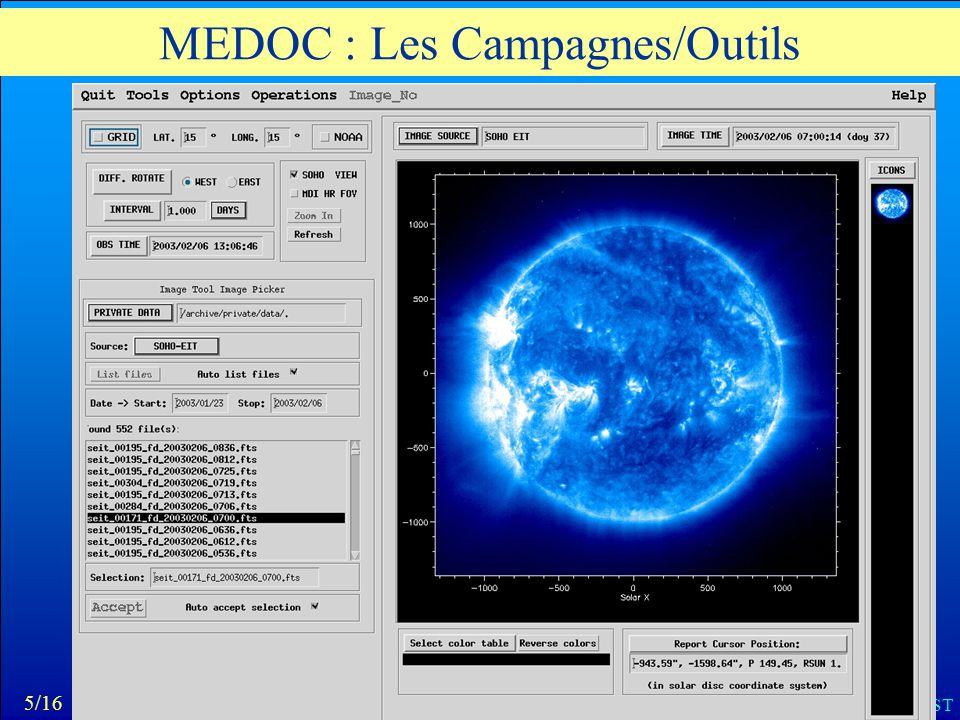 MEDOC : Les Campagnes/Outils