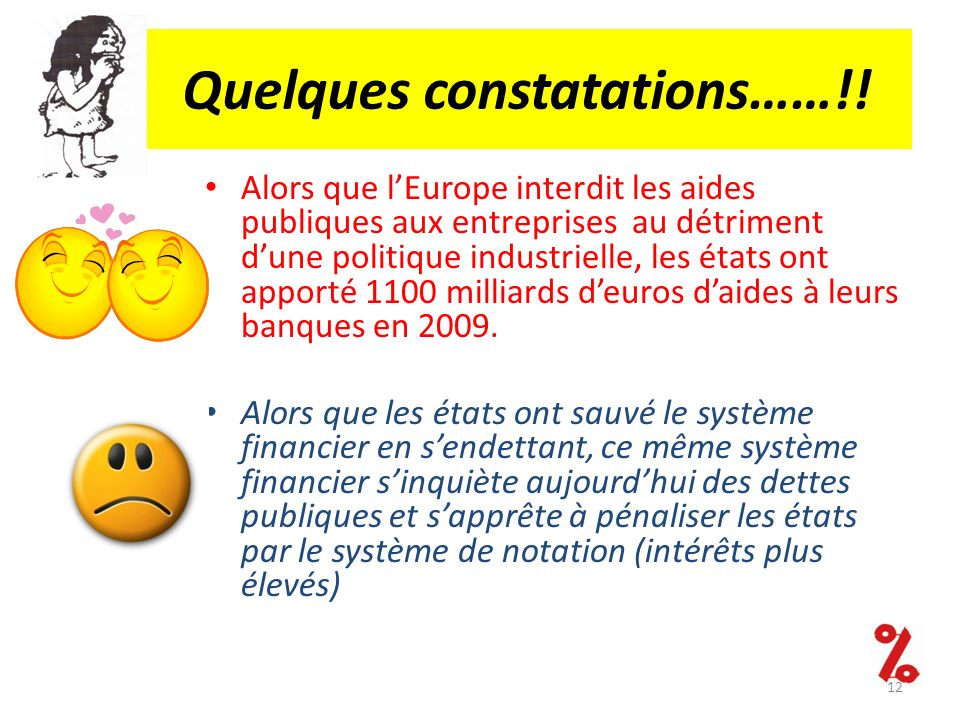 Quelques constatations……!!