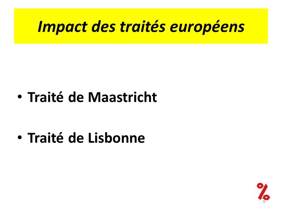 Impact des traités européens