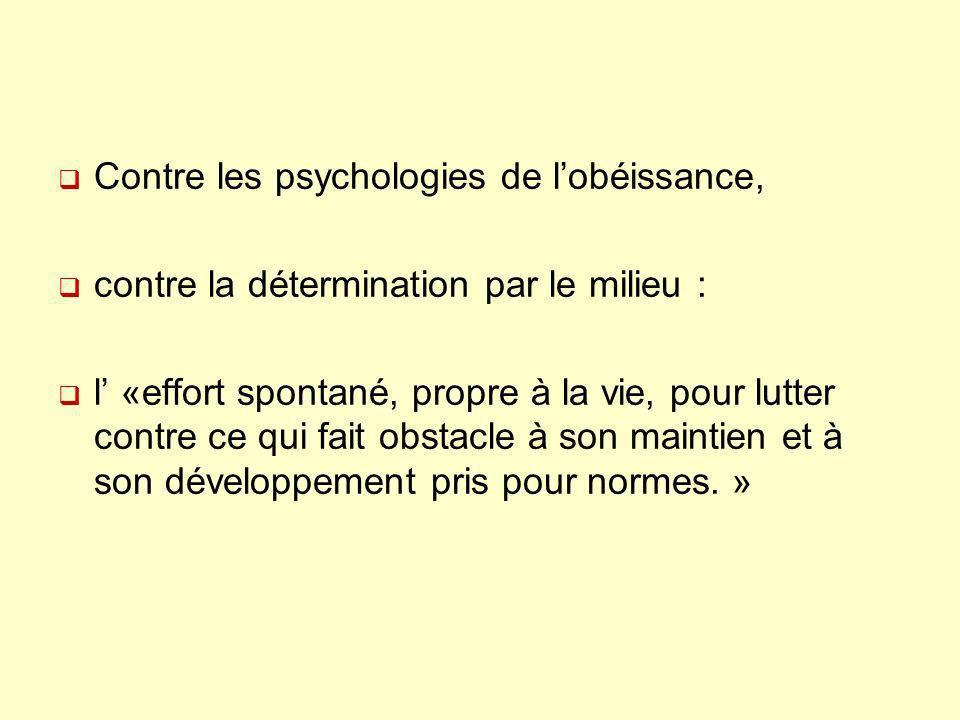 Contre les psychologies de l'obéissance,