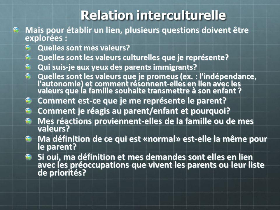 Relation interculturelle