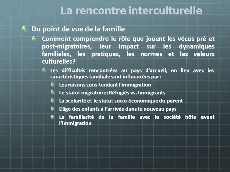 La rencontre interculturelle