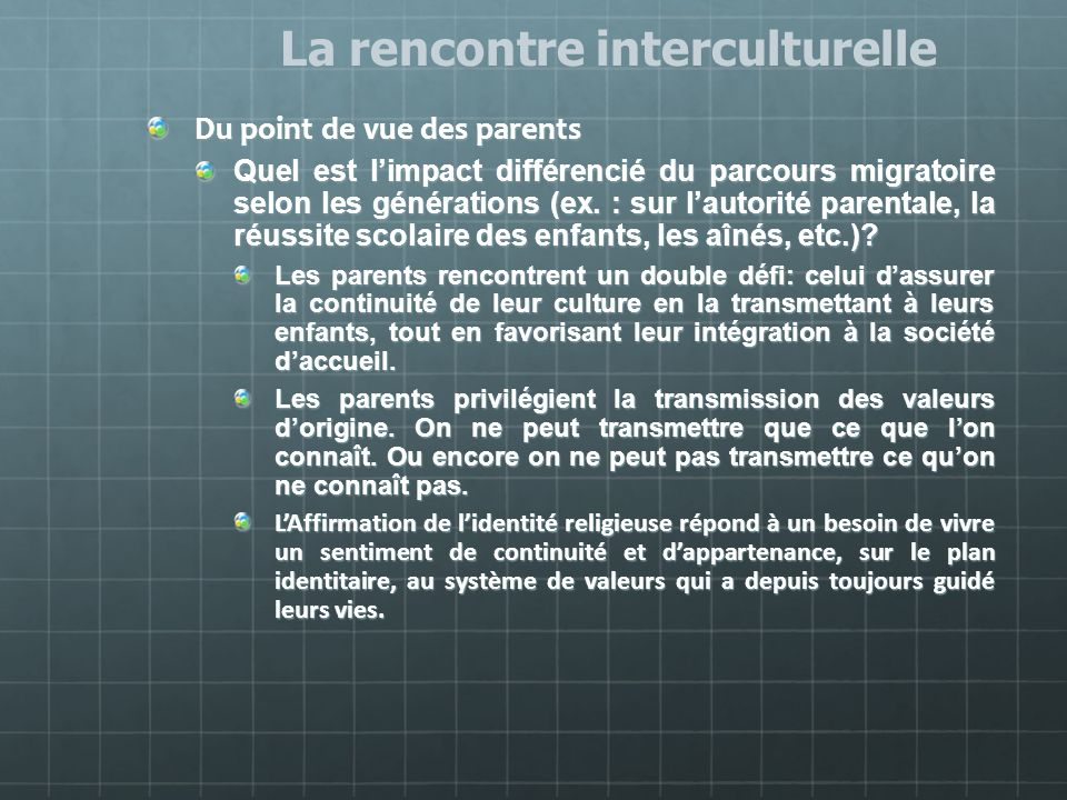 Rencontre interculturelle definition