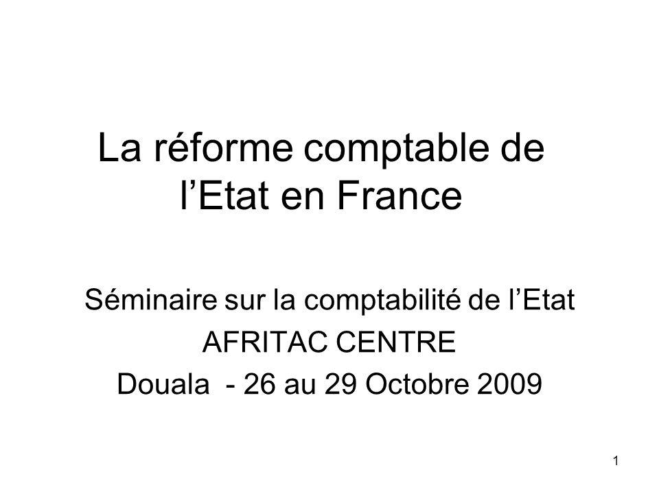 La réforme comptable de l'Etat en France