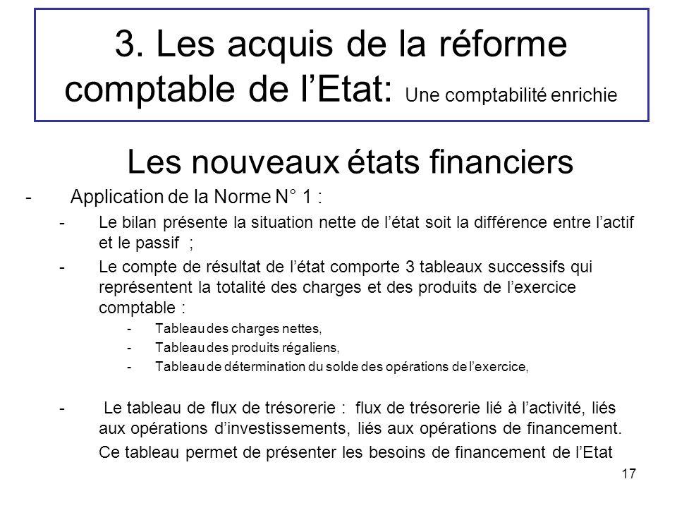3. Les acquis de la réforme comptable de l'Etat: Une comptabilité enrichie
