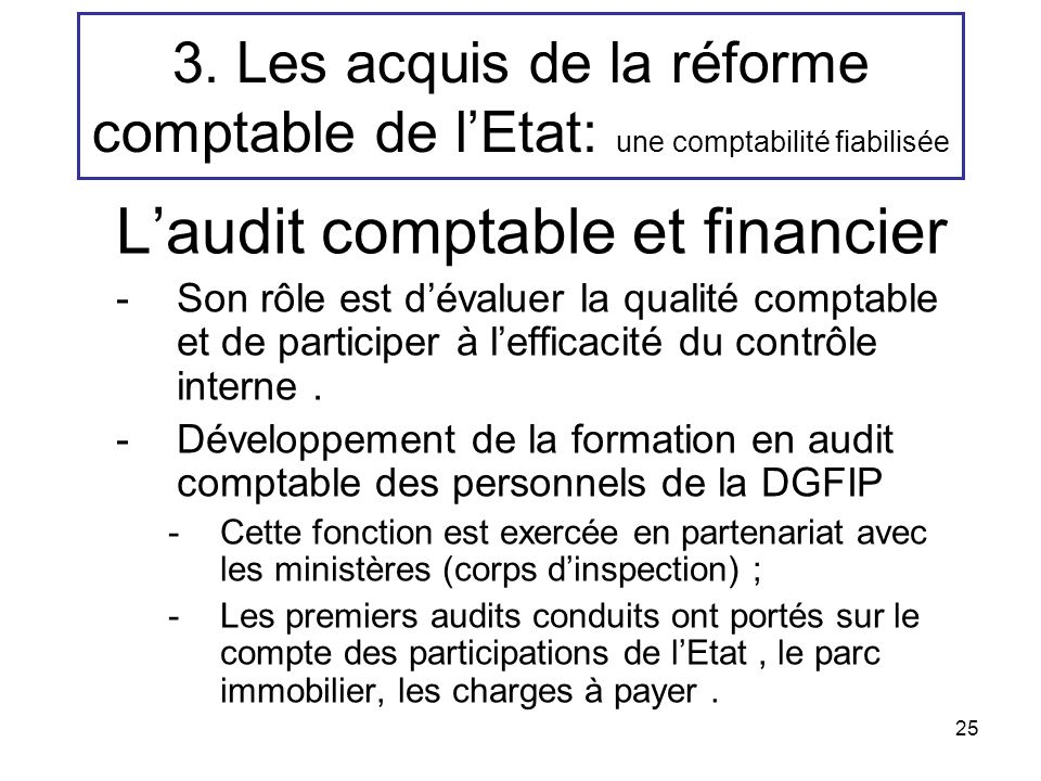 L'audit comptable et financier