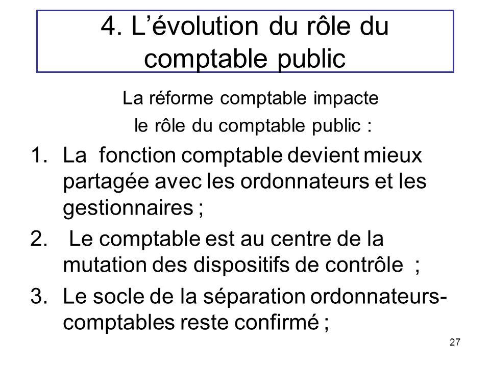 4. L'évolution du rôle du comptable public