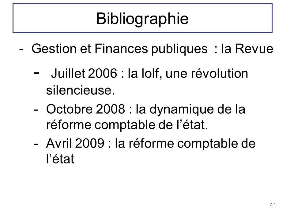 Juillet 2006 : la lolf, une révolution silencieuse.