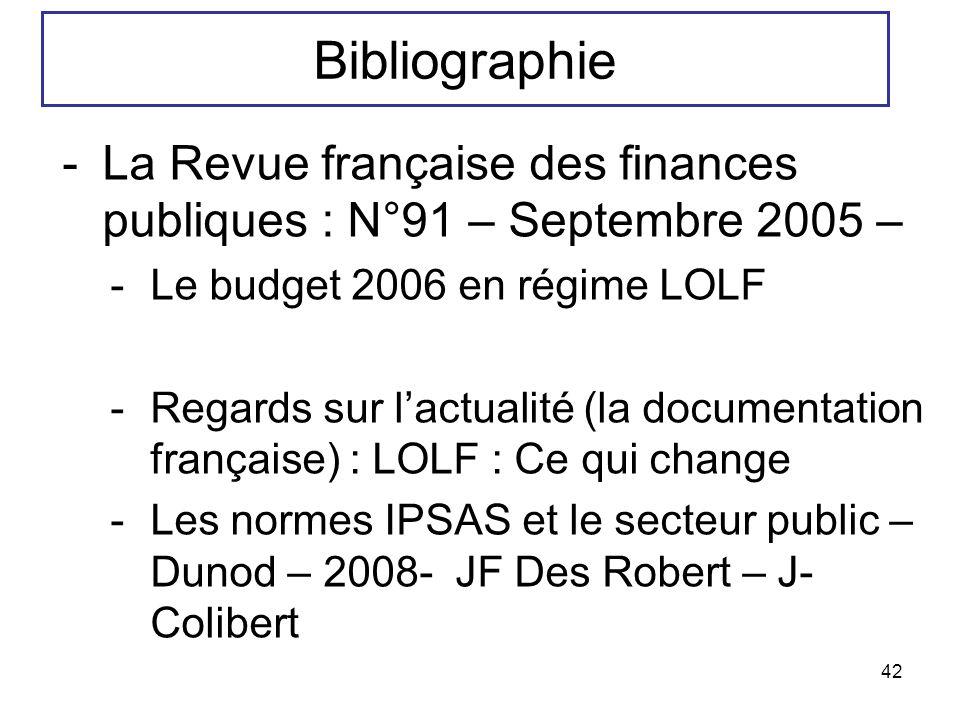 Bibliographie La Revue française des finances publiques : N°91 – Septembre 2005 – Le budget 2006 en régime LOLF.