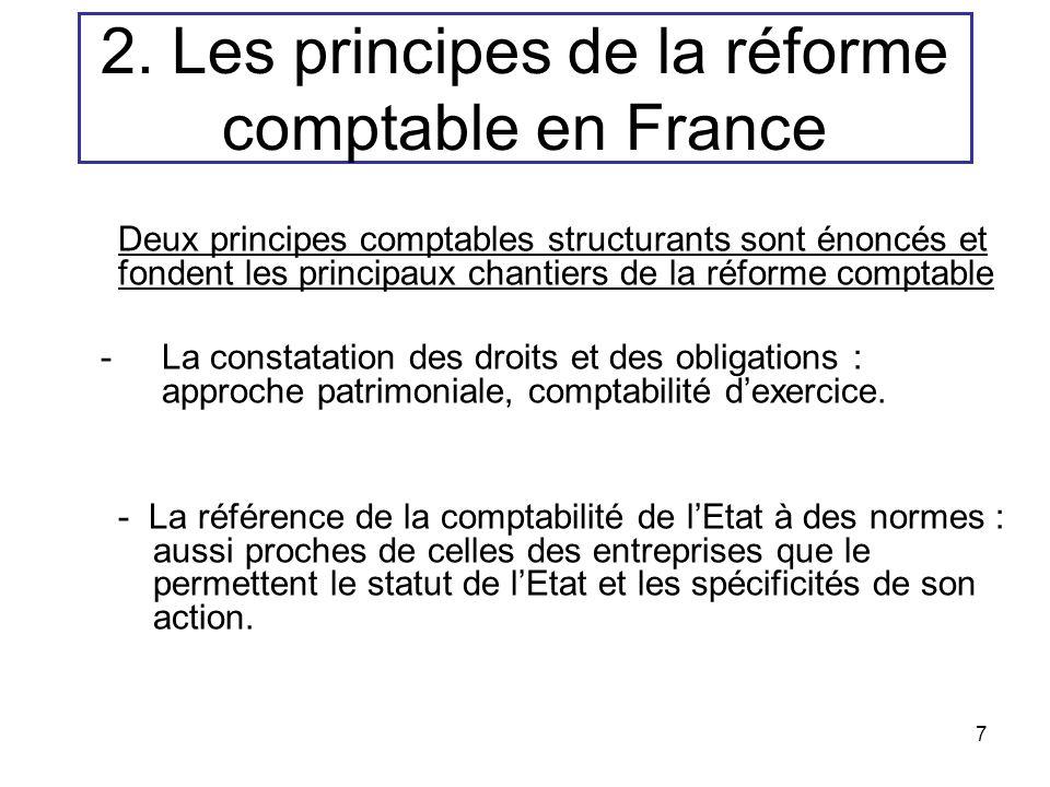 2. Les principes de la réforme comptable en France