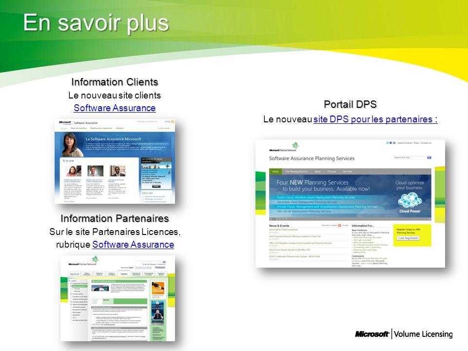 En savoir plus Information Clients Portail DPS Information Partenaires
