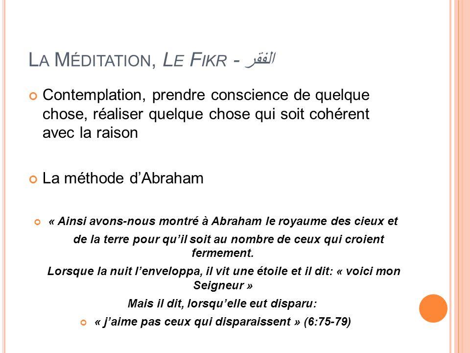 La Méditation, Le Fikr - الفقر
