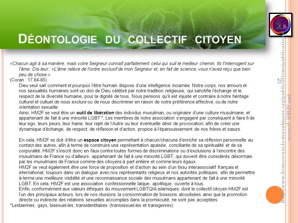 Déontologie du collectif citoyen