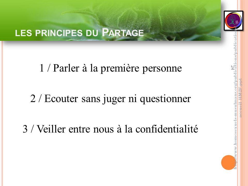 les principes du Partage
