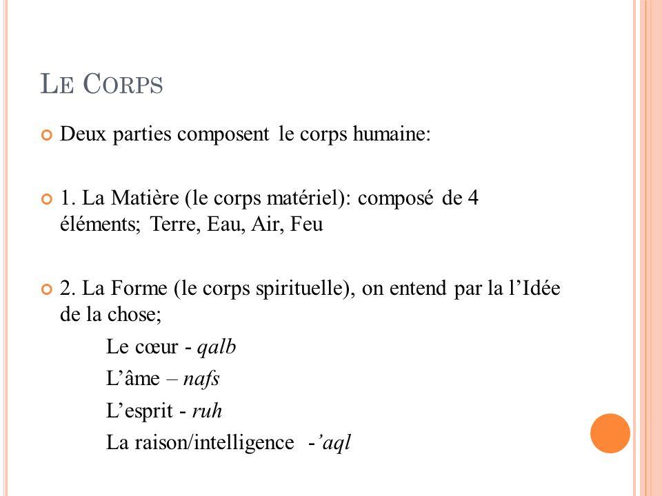 Le Corps Deux parties composent le corps humaine:
