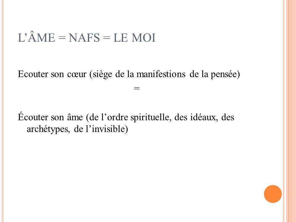 L'ÂME = NAFS = LE MOI