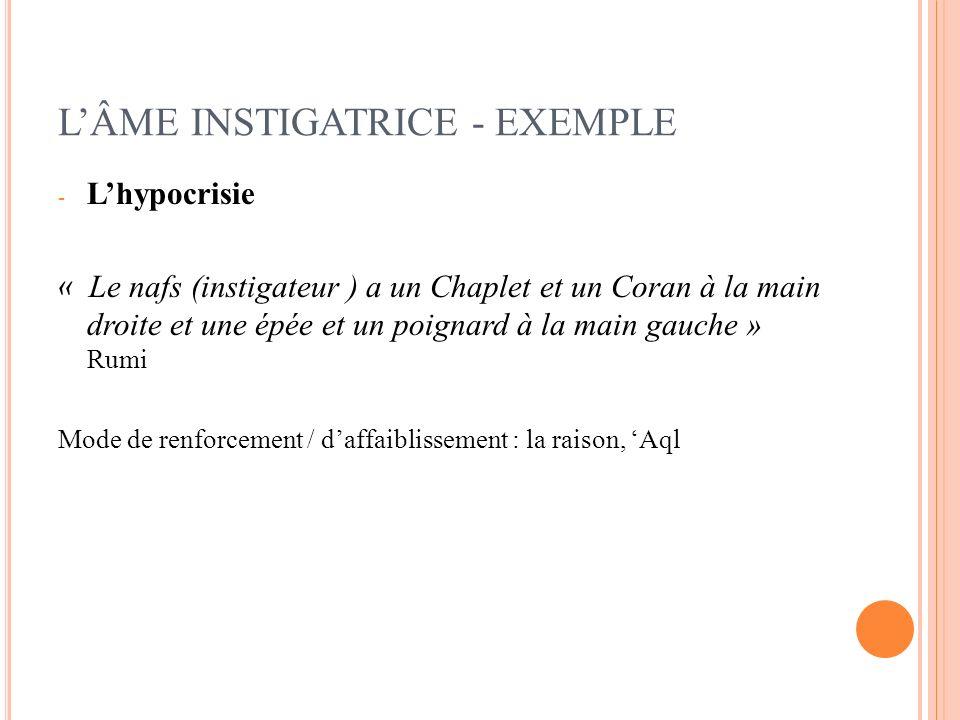 L'ÂME INSTIGATRICE - EXEMPLE