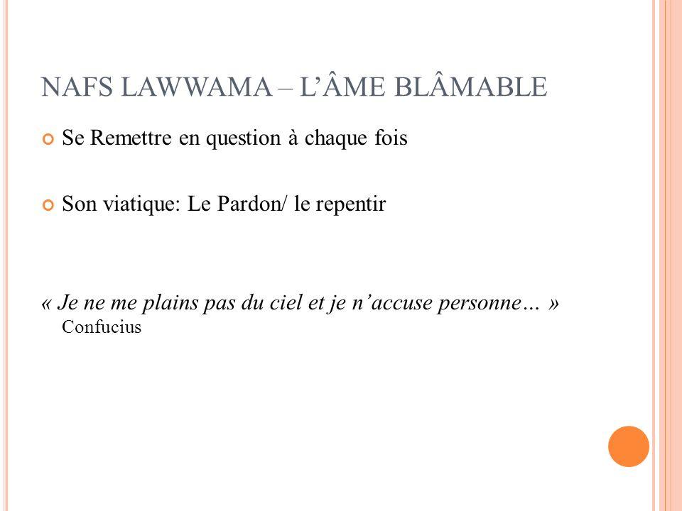 NAFS LAWWAMA – L'ÂME BLÂMABLE