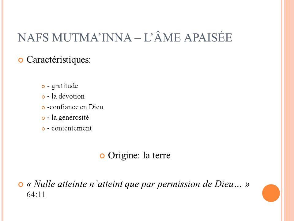 NAFS MUTMA'INNA – L'ÂME APAISÉE