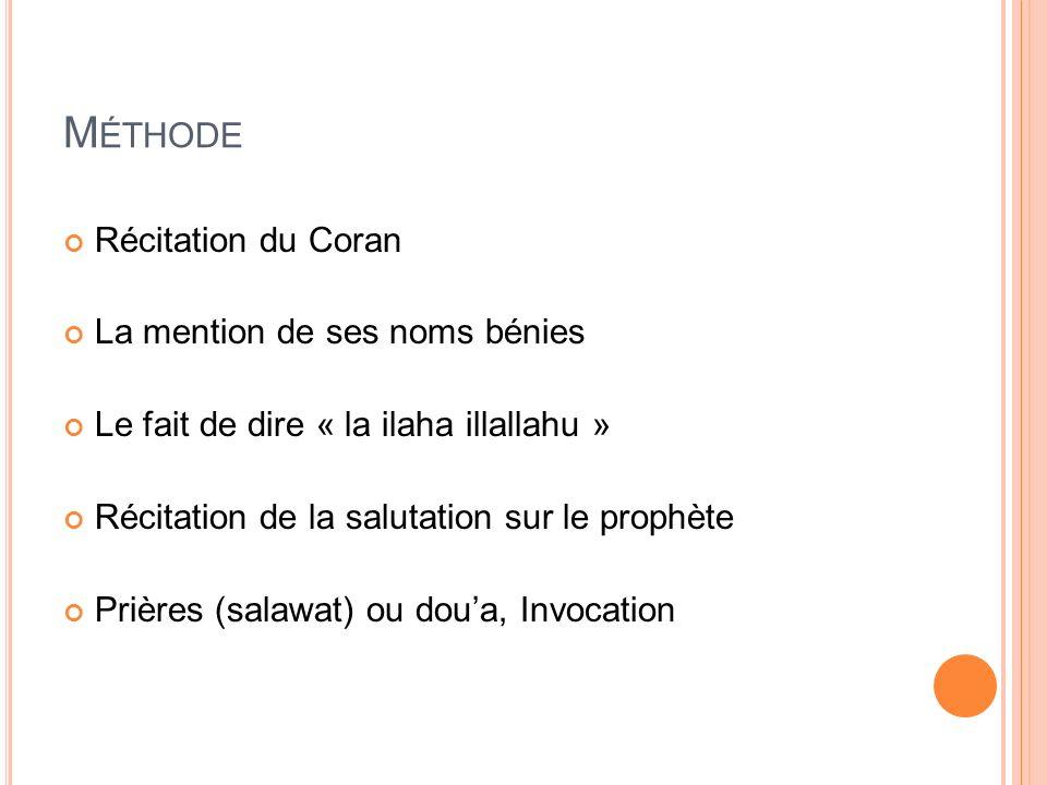 Méthode Récitation du Coran La mention de ses noms bénies