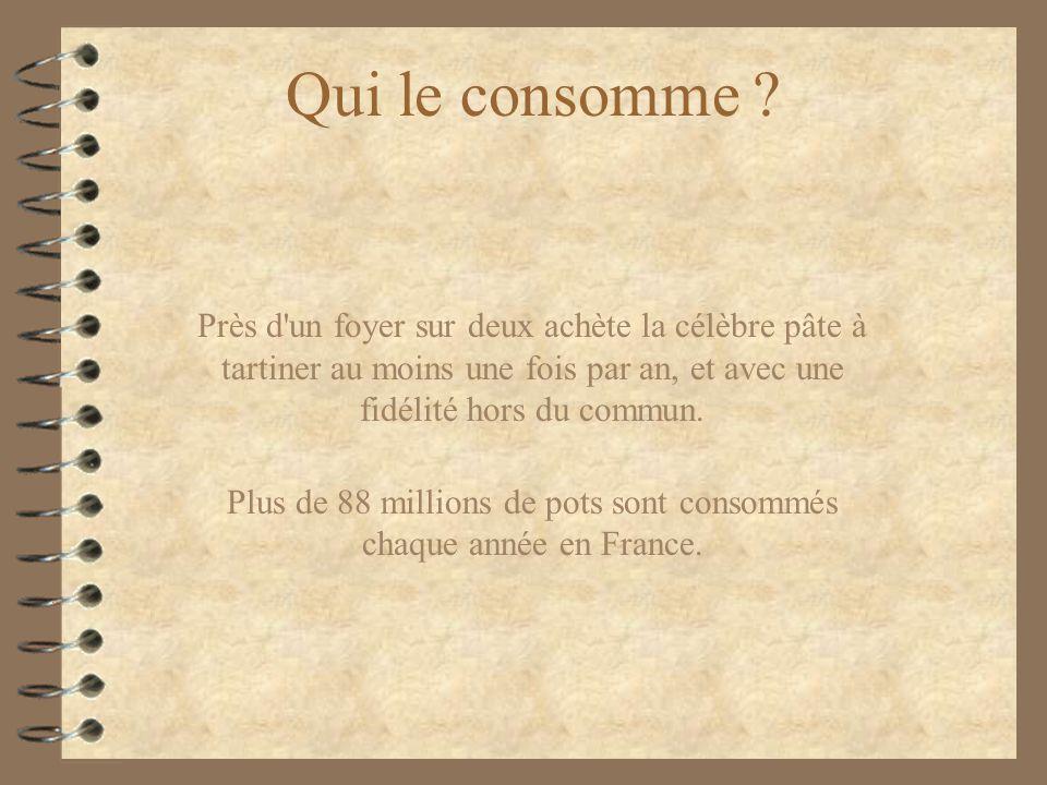 Plus de 88 millions de pots sont consommés chaque année en France.