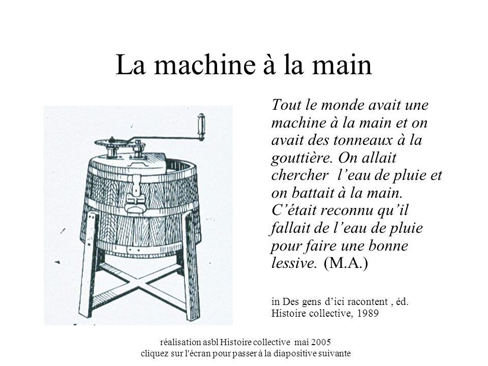 La machine à la main