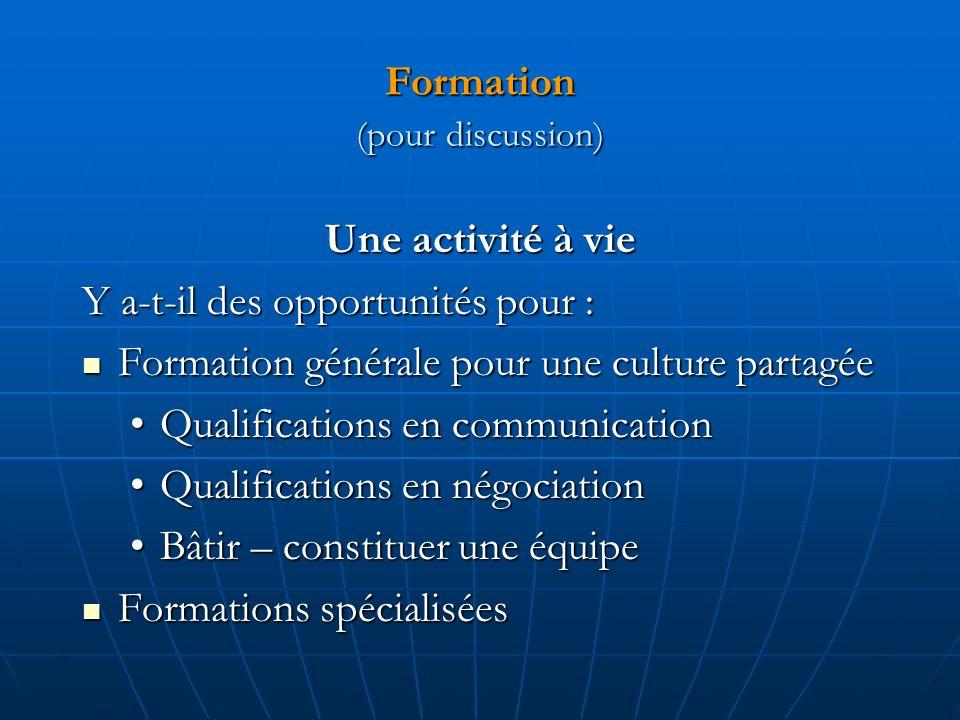 Formation (pour discussion)