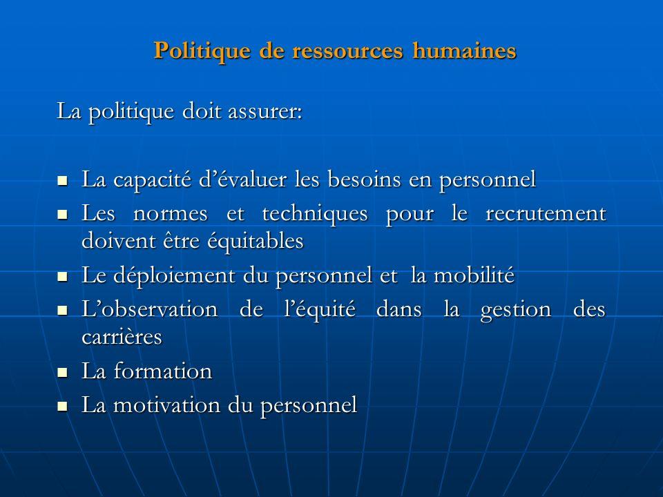 Politique de ressources humaines