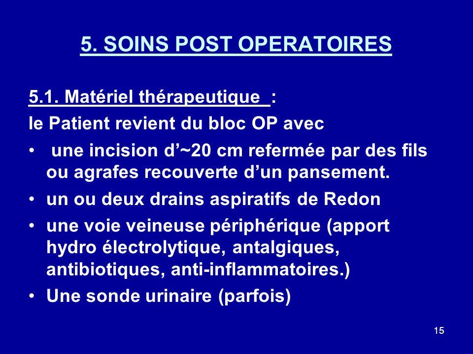 5. SOINS POST OPERATOIRES