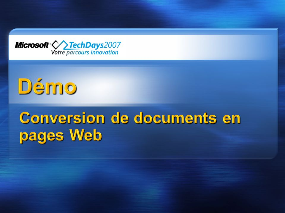 Conversion de documents en pages Web