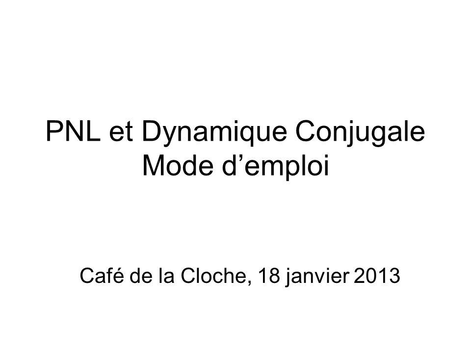 PNL et Dynamique Conjugale Mode d'emploi