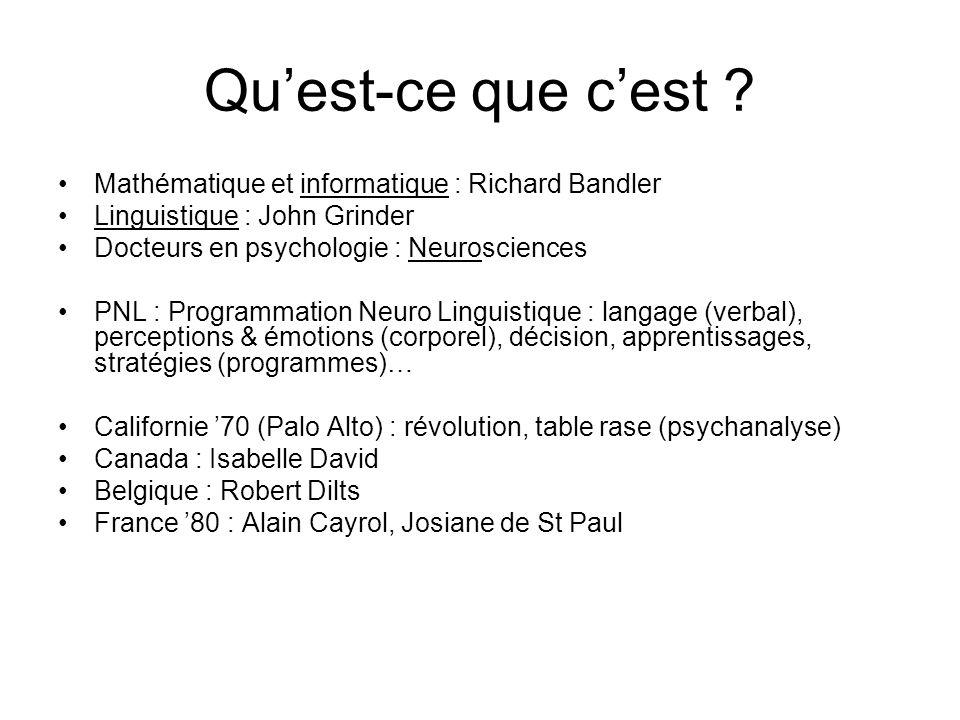 Qu'est-ce que c'est Mathématique et informatique : Richard Bandler