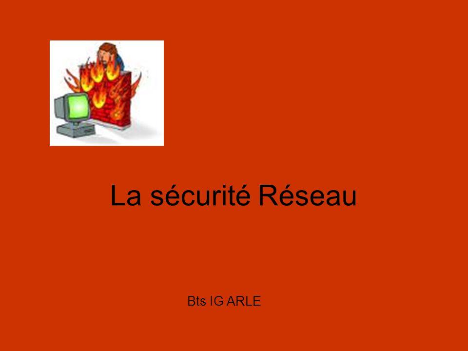 La sécurité Réseau Bts IG ARLE