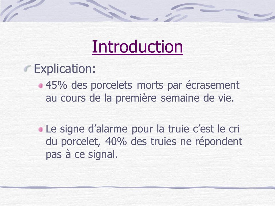 Introduction Explication:
