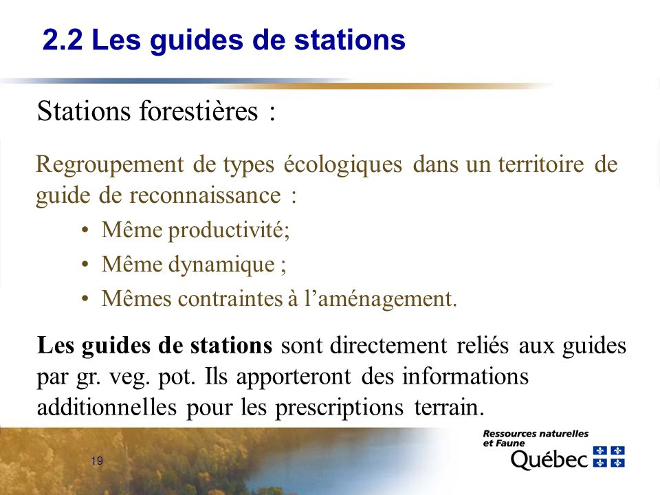 Stations forestières :