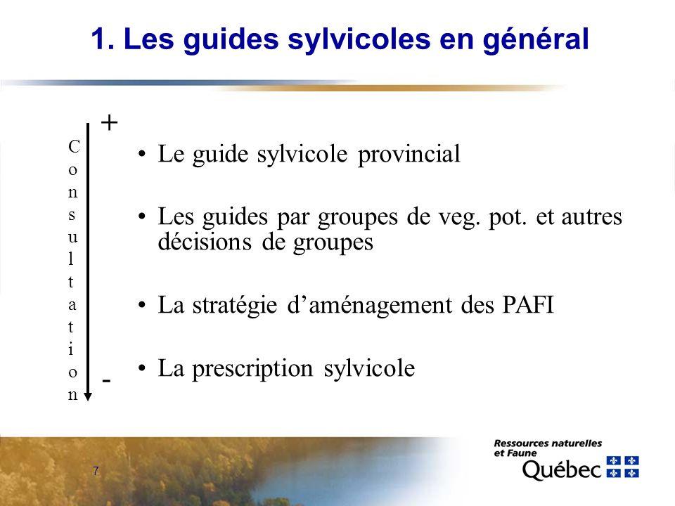 1. Les guides sylvicoles en général