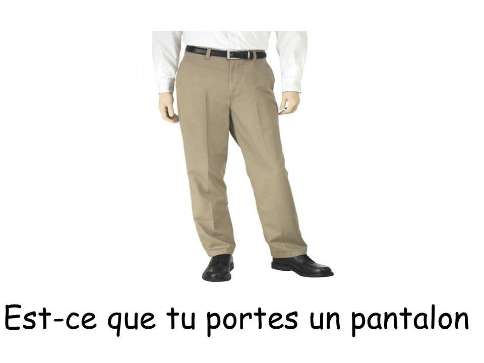 Est-ce que tu portes un pantalon