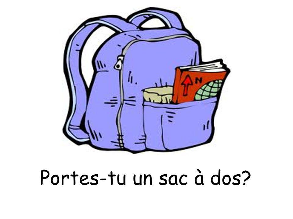 Portes-tu un sac à dos