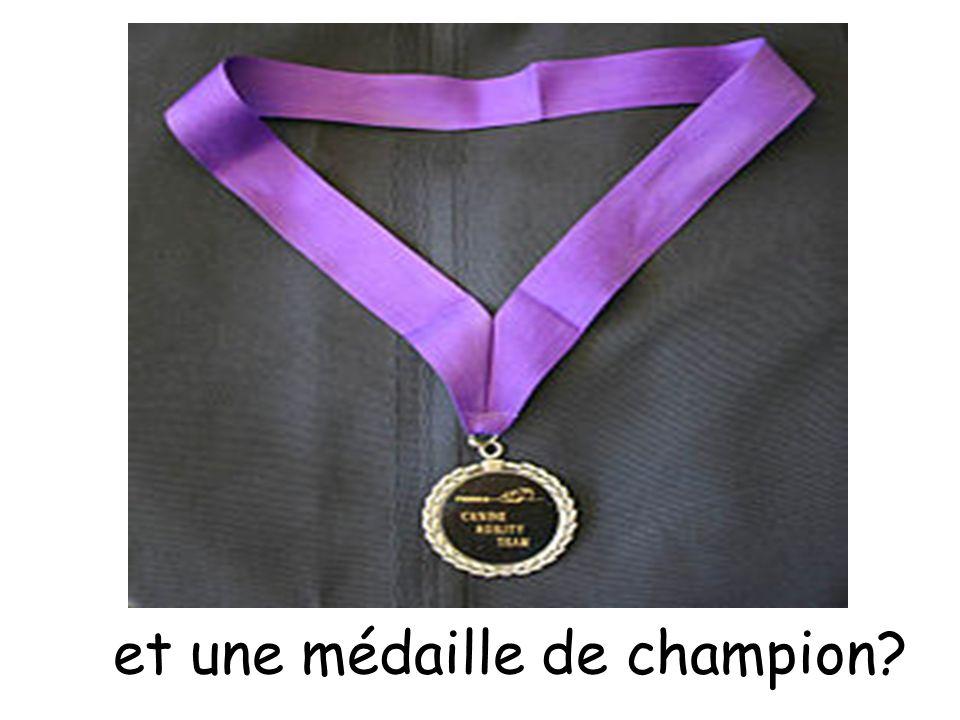 et une médaille de champion