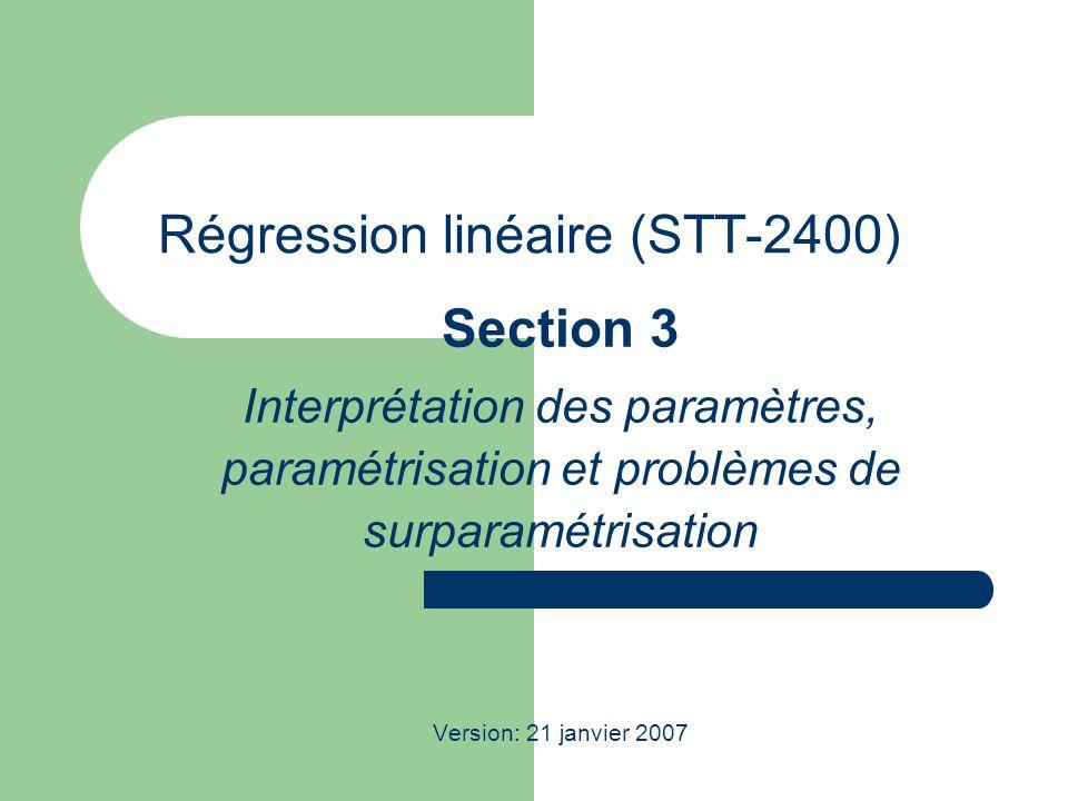 Régression linéaire (STT-2400)
