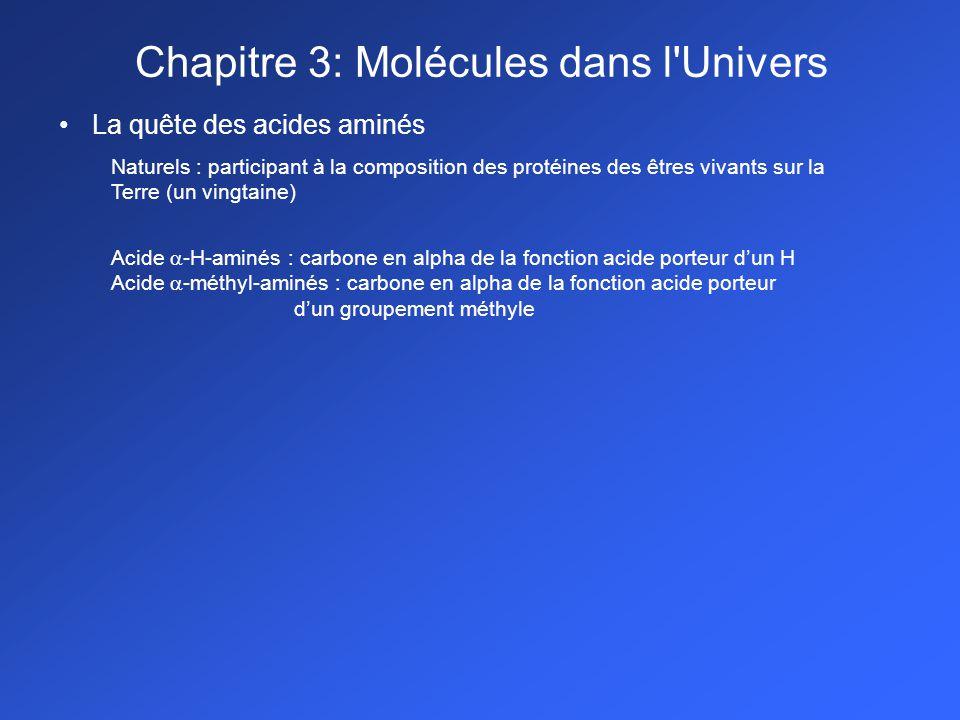Chapitre 3: Molécules dans l Univers