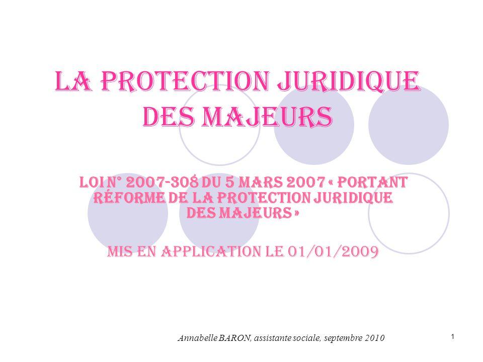La protection juridique des majeurs