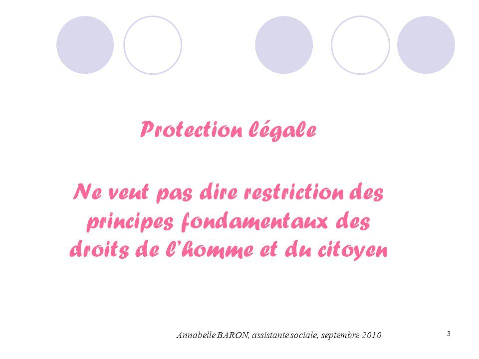 Protection légaleNe veut pas dire restriction des principes fondamentaux des droits de l'homme et du citoyen.